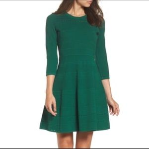 Eliza J Nordstrom Fit & Flare Sweater Dress